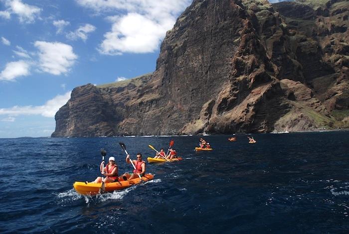 Ausflug Kayaking & cetacean watching at los gigantes cliffs and masca
