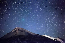 Stargazing at the teide national park by night
